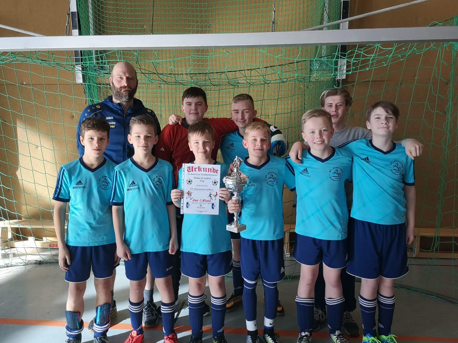 Turniersieg der D-Jugend beim Palme & Seifert Cup des TSV Leuna